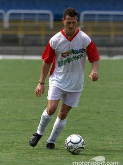 Hope for Children' charity football match held at Rio de Janeiroís Maracana stadium: Michael Schumacher