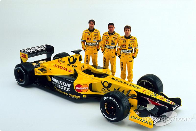 Heinz-Harald Frentzen, Ricardo Zonta and Jarno Trulli