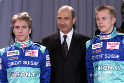 Nick Heidfeld, Peter Sauber and Kimi Raikkonen