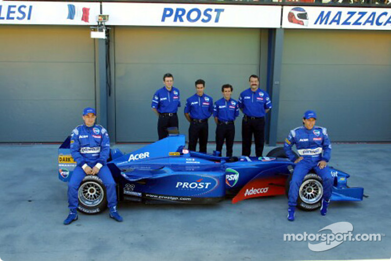 Jean Alesi, Henri Durand, Pedro Diniz, Alain Prost, Joan Villadelprat ve Gaston Mazzacane