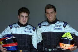 Fernando Alonso y Tarso Marques