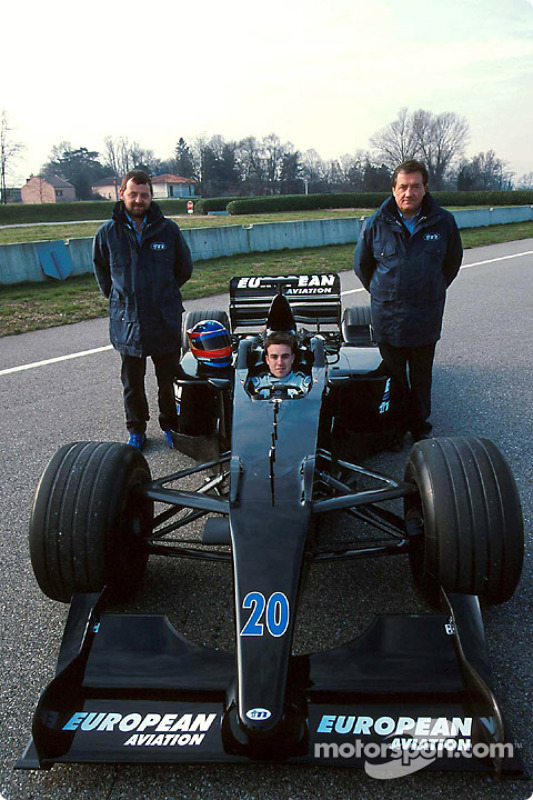 Paul Stoddart, Fernando Alonso and Gian Carlo Minardi