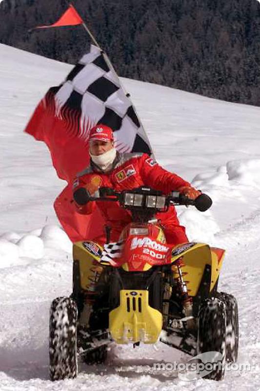 Schumi having fun on an ATV