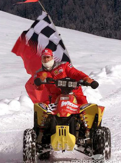 Schumi having fun on an ATV