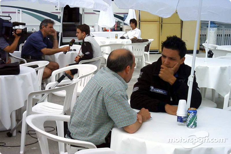 Media time for Tarso Marques and Fernando Alonso