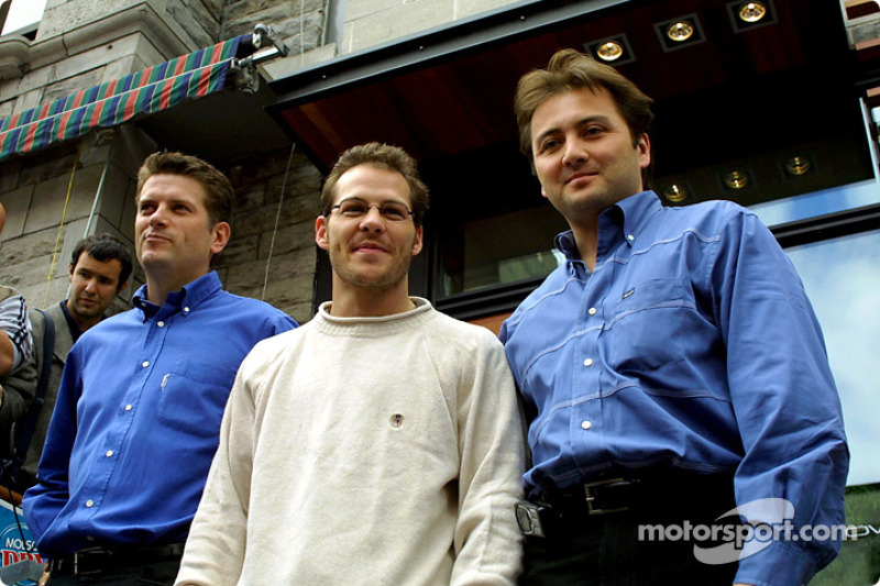 Hey, I'm a club owner now: Jacques Villeneuve and his Newtown business partners Martin Poitras and J