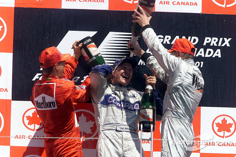 Champagne shower for Ralf