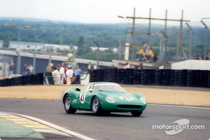 The winner of Le Mans Legend: David Piper with his Ferrari 250LM