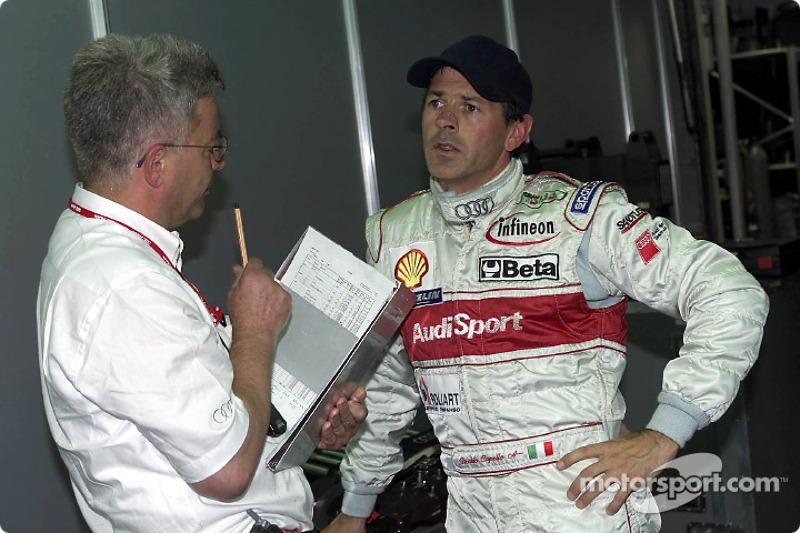 Rinaldo Capello (Audi Sport North America) achieved pole position