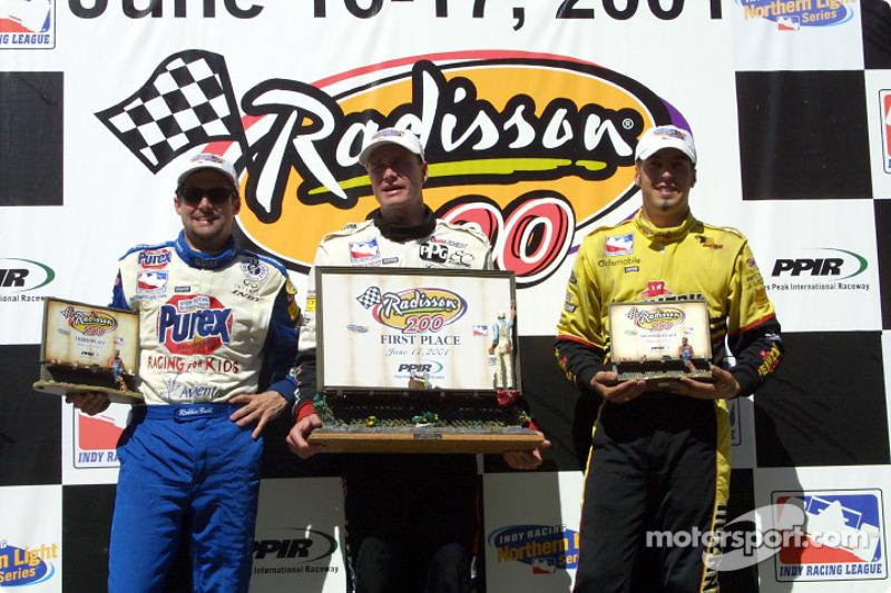 Robbie Buhl, Buddy Lazier and Sam Hornish Jr.