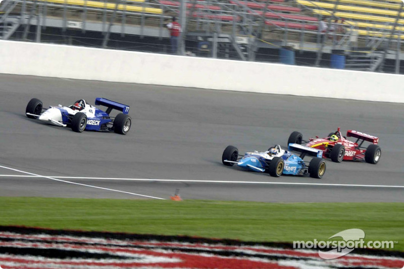 Bryan Herta, Patrick Carpentier and Bruno Junqueira