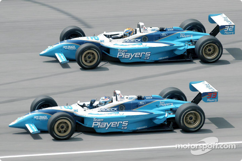 Last lap: Alex Tagliani and Patrick Carpentier