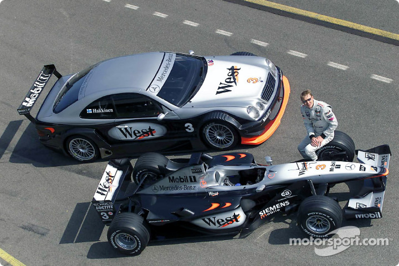 Mika Hakkinen completed 31 laps with the AMG Mercedes CLK-DTM in West McLaren Mercedes livery at Brno