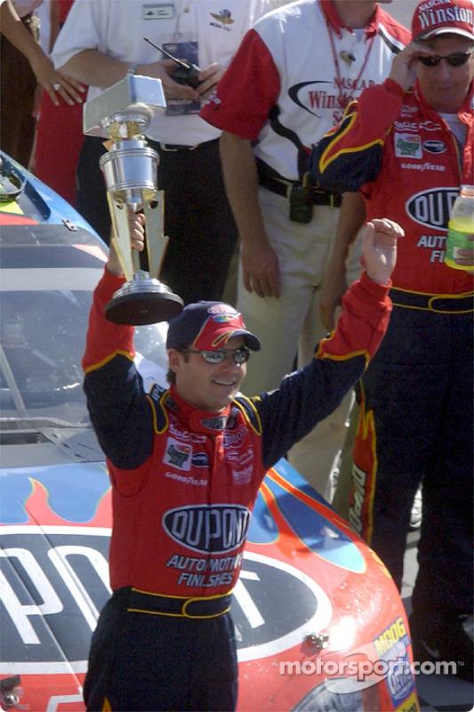 Race winner Jeff Gordon