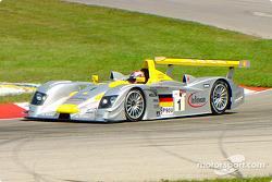 Rinaldo Capello testing the Audi on the Mid-Ohio track