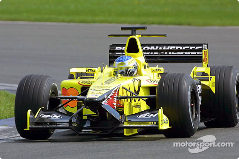 Jean Alesi pilote l'EJ11 pour un Shakedown