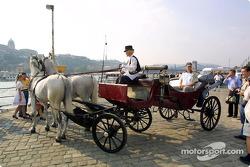 Olivier Panis visiting Budapest