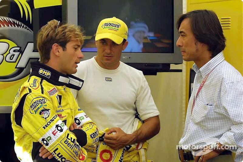 Jarno Trulli and Jean Alesi