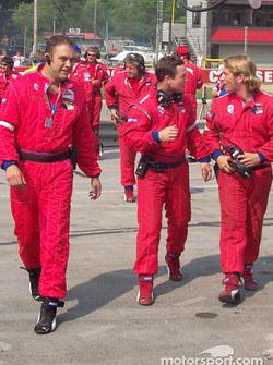 Team Panoz celebrating victory