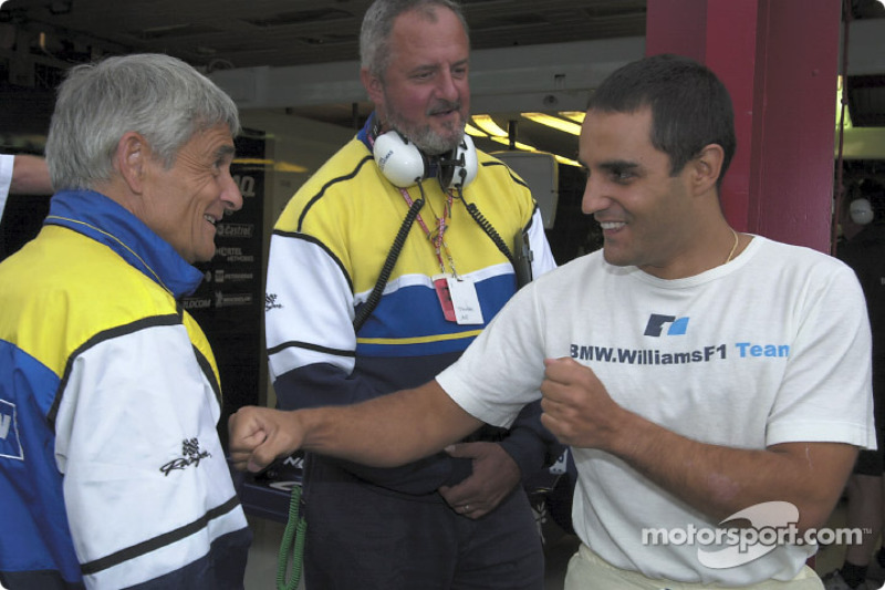 Pierre Dupasquier and Juan Pablo Montoya