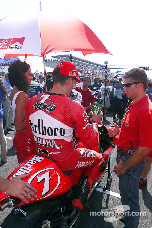 Carlos Checa on the grid