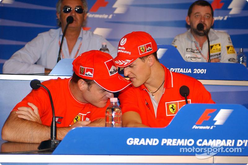 Thursday press conference: Rubens Barrichello and Michael Schumacher