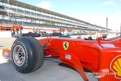 Bannière étoilée sur la Ferrari