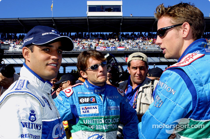 The Spice Boys: Juan Pablo Montoya, Giancarlo Fisichella and Jenson Button