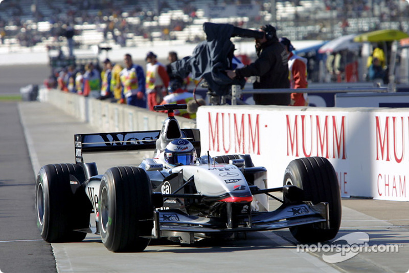 Mika Hakkinen at pit exit
