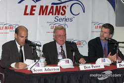 Scott Atherton, Don Panoz and Dennis Huth announce the 2002 ALMS schedule