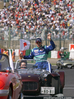 Drivers parade: Nick Heidfeld