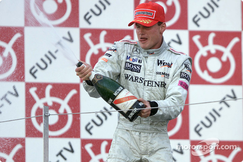 David Coulthard on the podium