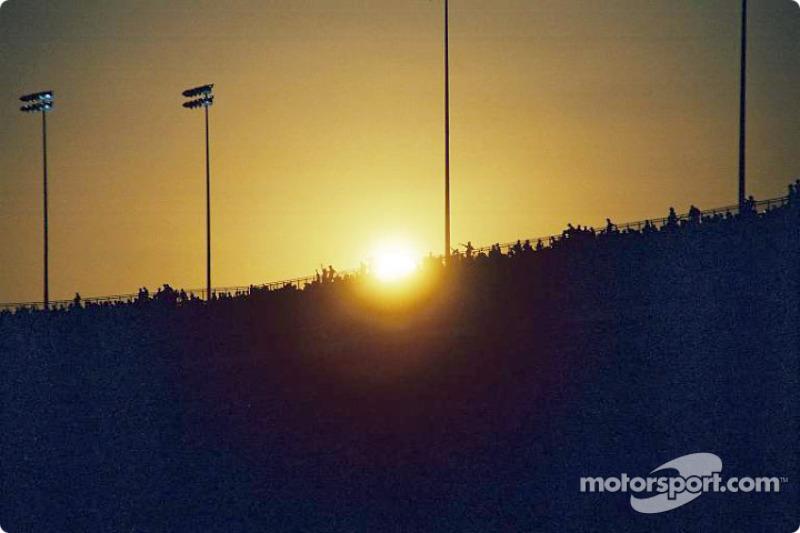 Sunset on Richmond International Raceway
