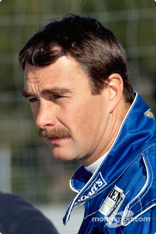 Nigel Mansell pendant son test