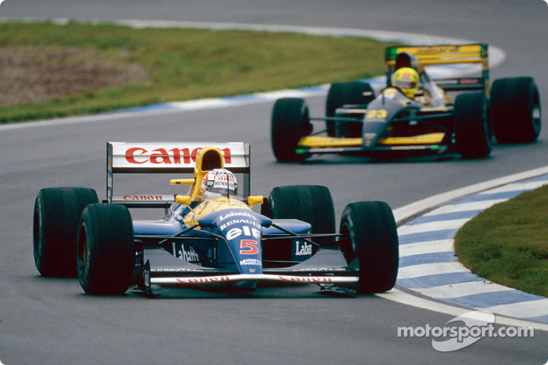 Nigel Mansell and Christian Fittipaldi