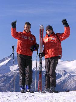 Michael Schumacher et Luca Badoer