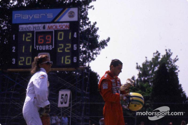 En la carrera: Ayrton Senna