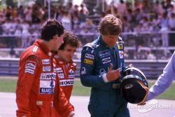 Après la course : Ayrton Senna, Alain Prost et Thierry Boutsen