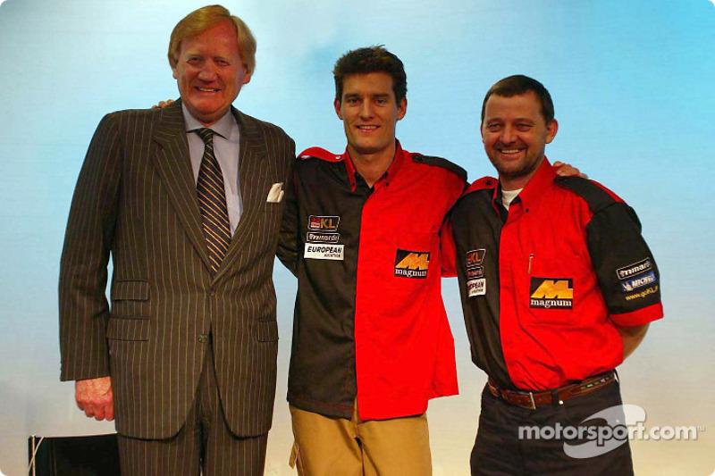 Mark Webber présenté par Paul Stoddart
