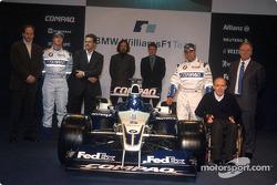 Gerhard Berger, Ralf Schumacher, Dr. Mario Theissen, Gavin Fisher, Sam Michael, Juan Pablo Montoya, Frank Williams y Patrick Head