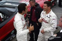 Helio Castroneves and Scott Sharp