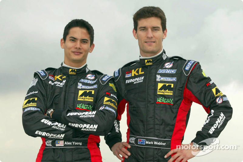 Alex Yoong et Mark Webber