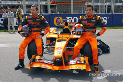 Official launch of the Arrows A23: Heinz-Harald Frentzen and Enrique Bernoldi