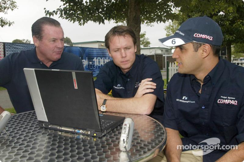 Compaq driver day: Alan Jones, Sam Michael and Juan Pablo Montoya