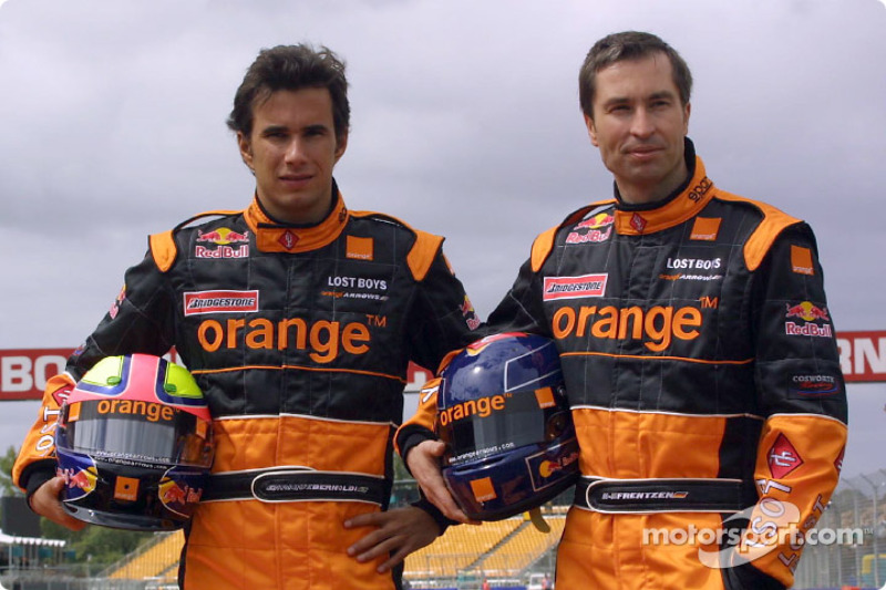 Official launch of the Arrows A23: Enrique Bernoldi and Heinz-Harald Frentzen