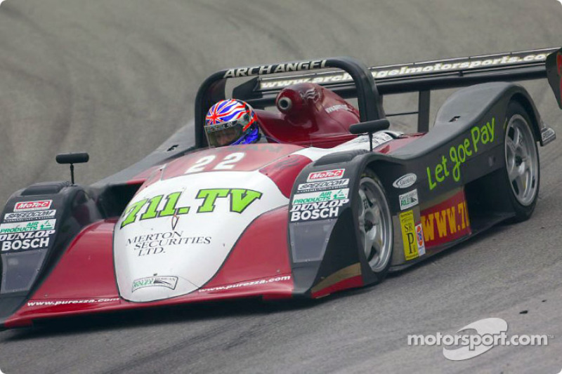 The #22 711.tv Nissan-powered Lola of Archangel Motorsport Services led SRPII class in the second practice session