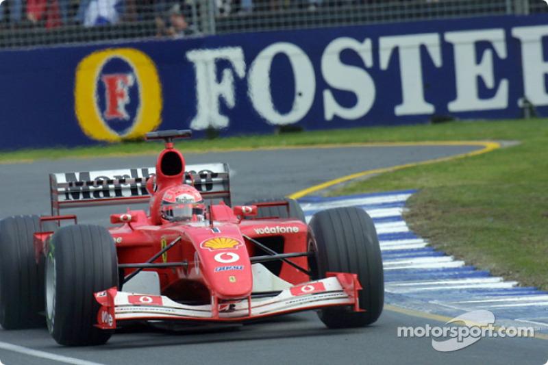 Michael Schumacher rumbo a la victoria