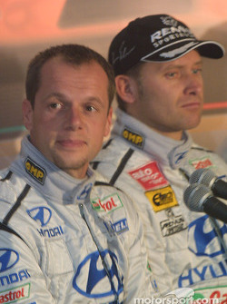 Hyundai Accent WRC3 launch: Freddy Loix and Armin Schwarz