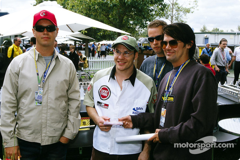 Jacques Villeneuve with Australian rock bands Grinspoon and Living End