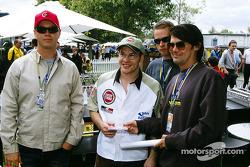 Jacques Villeneuve with Australian rock bands Grinspoon and Living End